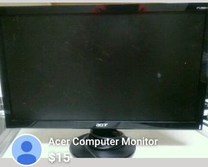 Acer Computer Monitor for Sale in Severn, MD