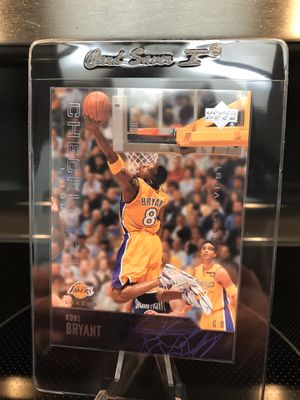 2003 Upper Deck Kobe Bryant NBA Basketball Card - Authentic Lakers Black Mamba Jersey 8 Collectible - RARE INSERT - $21 OBO for Sale in Carlsbad, CA