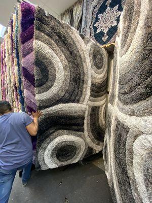 5x7 area Rugs carpet rugs 3D carved super thick soft heavy pile colors black gray silver for Sale in Los Angeles, CA