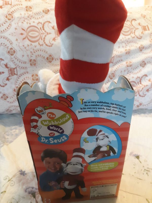 DR SEUSS CAT IN THE HAT W/THE GINK PLUSH RHYME & SURPRISE IN BOX MATTEL 1997