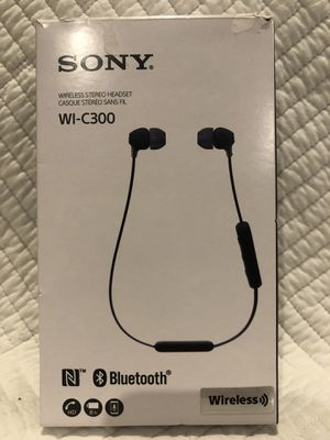 Sony Bluetooth WI-C300 headphones for Sale in Colton, CA