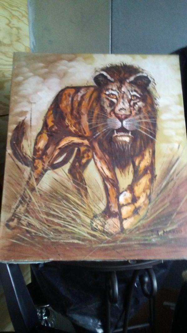 Original Lion Oil Painting! Signed bt Original Artist!