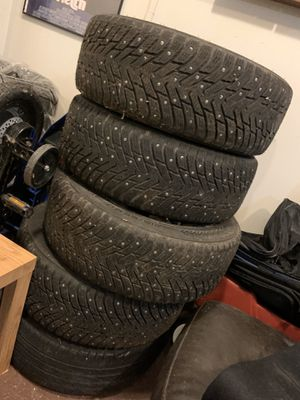 Studded Snow Tires size 215/55r17 + spare for Sale in Pittsford, NY