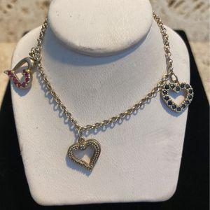 Vintage Sterling Heart Charm Bracelet - Brst Quality - Good Condition - #artssoflo for Sale in Miami, FL