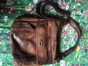 Fossil crossbody leather messengers bag for Sale in Austin, TX