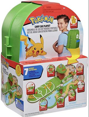 New Pokémon Backpack Playset Pikachu Carry case for Sale in Bellevue, WA