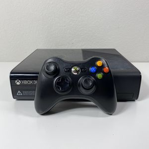 XBOX 360 E 500GB SYSTEM CONSOLE BLACK WIRELESS CONTROLLER MICROSOFT USED for Sale in Lewisville, TX