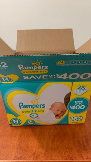 Pampers diapers unused portion size newborn for Sale in Jersey City, NJ