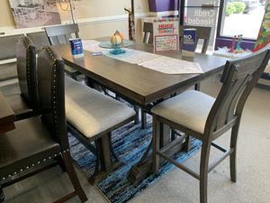 *NO CREDIT NEEDED* AWESOME GREY RUSTIC DINING SET!!! EVERYTHING INCLUDED!!! EASY FINANCE!!! for Sale in Raleigh, NC
