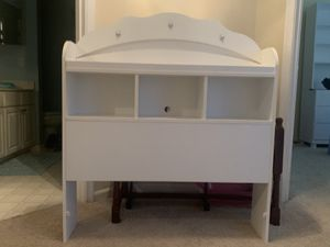 White headboard shelves shelf twin size for Sale in North Potomac, MD