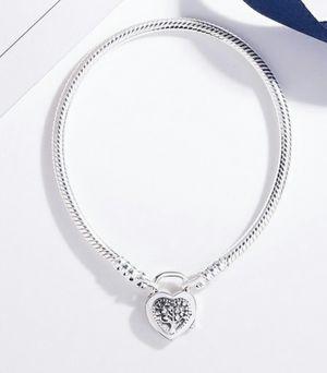 925 Sterling Silver Charm Snake Chain Bracelet for Sale in Wichita, KS