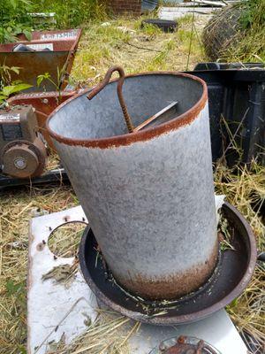 Vintage antique galvanized metal chicken feeder for Sale in Monroe, NC