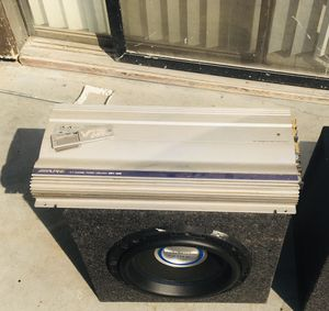"Alpine Mrv 1505 amplifier /gothic 12"" subwoofer 1250 rms for Sale in Porterville, CA"