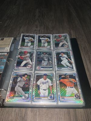 LOT OF 72 BOWMAN BASEBALL CARDS (REFRACTORS, ROOKIES, FIRST BOWMANS, MORE!) for Sale in Anaheim, CA