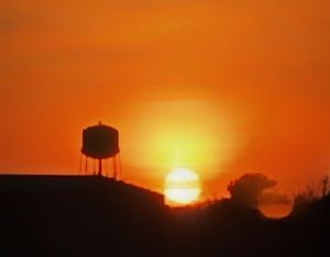 """Beautiful one of a kind phot on canvas of rare sunset """"sun dog"""" for Sale in Frederick, MD"""
