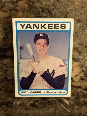 Joe DiMaggio rare 1972 Bowery Bank vintage baseball card New York Yankees for Sale in Lakeland, FL