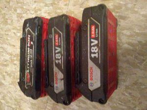 Bosch 18v drill 3 batteries for Sale in Saint Paul, MN