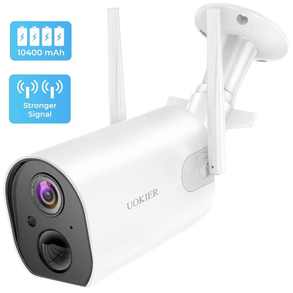 Wireless Outdoor Security Camera, Rechargeable Battery 10400mAh for 4-8 Months, 1080P WiFi Surveillance Camera with Upgraded Antenna, Motion Detectio
