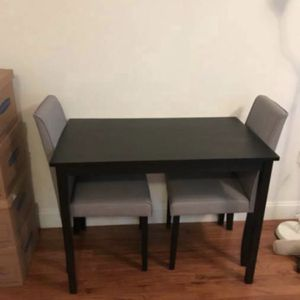 Monarch Dinette Set - Black table w/ Gray Chairs for Sale in Washington, DC