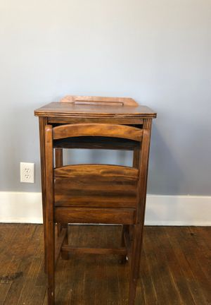 Antique Child's School Desk and Chair for Sale in Denver, CO