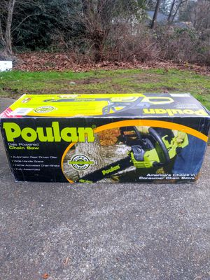 """Poulan 14"""" Gas Chainsaw for Sale in Tacoma, WA"""