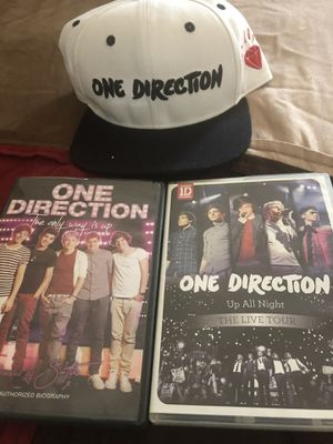 One Direction- 2 Movies & 1 hat for Sale in Lake Worth, FL