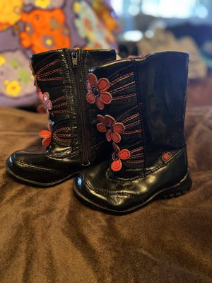 Cute little girl black boots from the children's place for Sale in Anaheim, CA