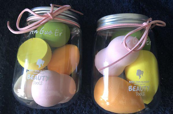 2 sets of 5 Pcs Makeup Sponge Set Blender Cosmetics Beauty Foundation Blending Sponge