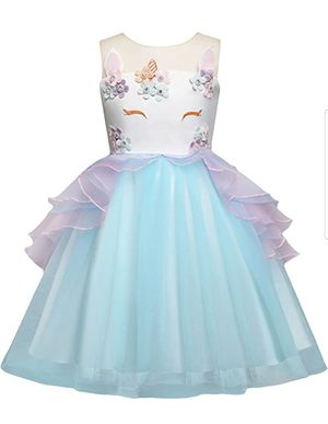 Baby Girls Flower Unicorn Costume Princess Dress Evening Gowns for Sale in Fullerton, CA