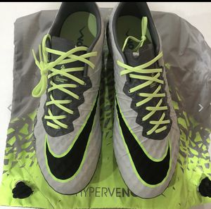 Nike Hypervenom Phinish ACC FG Soccer Cleat Gray 749901 004 Mens 7.5 NEW $200 Men's size 7.5 Women's size 9 Brand New with Box and Nike Dust Bag for Sale in Alexandria, VA