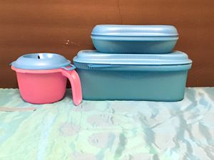 Tupperware set of three Microwave Cookers for Sale in Boca Raton, FL