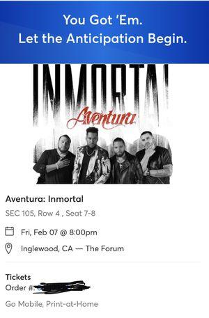 Aventura tickets! for Sale in Oakley, CA