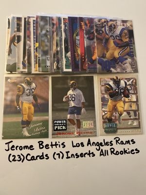 Jerome Bettis Los Angeles Rams Pittsburgh Steelers Hall of Fame RB (23) Card Lot. All Rookie Cards. for Sale in San Jose, CA