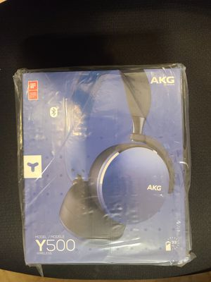 Samsung AKG Y500 On-Ear Foldable Wireless Bluetooth Headphones- Blue for Sale in South River, NJ