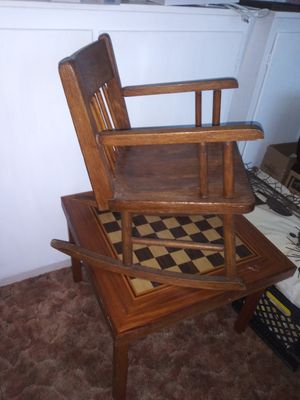 Handmade wooden children's rocking chair for Sale in Oroville, CA