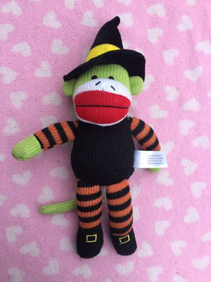Witch stripped sock monkey plush knit stuffed for Sale in Valley Stream, NY