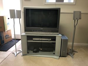 "Toshiba TV 30"" with built in DVD and VHS and Panasonic Surround sound for Sale in Rockville, MD"