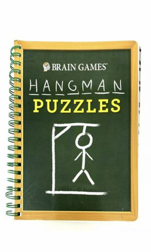 NEW ! Brain Games® Puzzle Book - Hangman 1-Pc Keep your mind sharp / GIFT for Sale in Buckhannon, WV