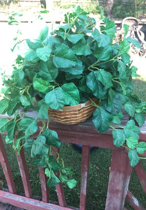 Artificial plant with hanging basket for Sale in Woodbridge, VA