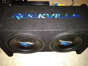 Rockville sub woofer and amp for Sale in Lewiston, ME