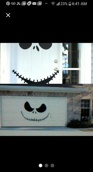 Halloween decor comes with garage and front door decal decor for Sale in Longview, WA