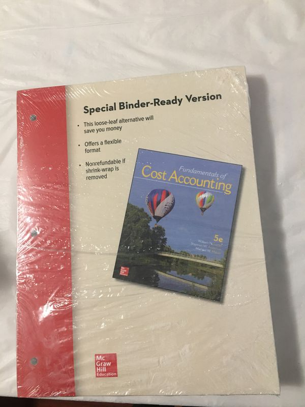 Fundamentals of cost accounting 5th edition