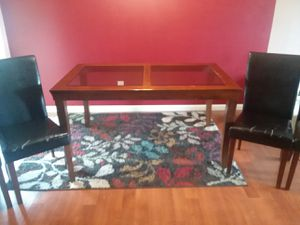 Glass top dining table with 4 chairs for Sale in Brook Park, OH