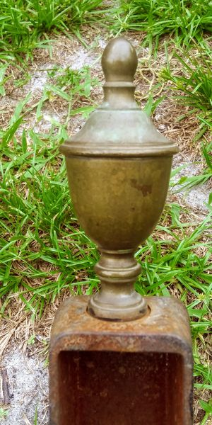 Brass n Hammered Iron Andirons for Sale in NEW PRT RCHY, FL