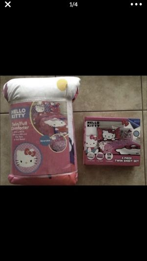 New Hello Kitty Twin/Full Comforter and Matching Sheet set for Sale in Babson Park, FL