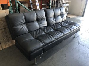 Modern Design Black Leather Futon for Sale in Livermore, CA