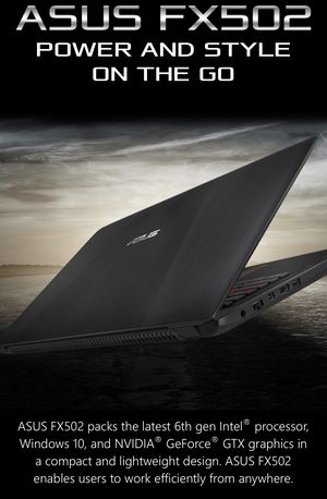 """ASUS 15.6"""" Gaming Laptop FX502VM-AS73 Intel Core i7-7700HQ Processor & GTX 1060 for Sale in Huntington Beach, CA"""