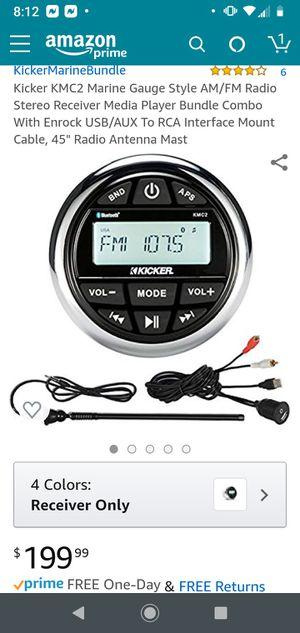 Kicker 4x50 watts boat stereo receiver for Sale in DeBary, FL