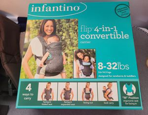 Baby Carrier: Flip 4-in-1 Convertible Baby Carrier for Sale in Everett, WA