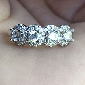 White gold plated sapphire CZ band ring women's jewelry accessory for Sale in Silver Spring, MD
